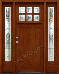 Door Styles Exterior Craftsman Style Doors And Sidelights