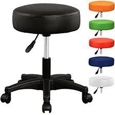tabouret de bureau à roulettes tabouret noir à roulettes pivotable réglable en hauteur