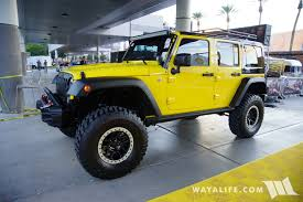 yellow jeep wrangler unlimited 2016 sema shell jeep jk wrangler unlimited