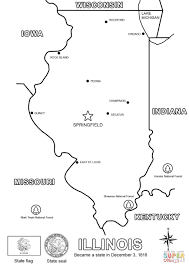 Map Of Indiana And Illinois by Illinois Map Coloring Page Free Printable Coloring Pages
