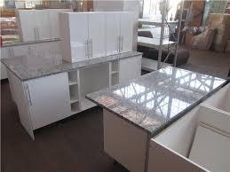 Black Granite Bench Tops Kitchen Straight Line Galley Style With Kitchen Island White 2