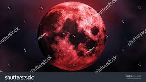 scary halloween photo background big red scary moon abstract halloween stock illustration 112193765