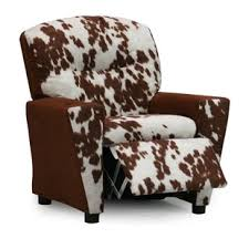 cowhide recliner chair wayfair