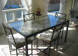 Kitchen Glass Table Achieve Asymmetrical Balance With A Round - Kitchen glass table