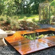 Building A Backyard Garden by How To Build A Water Garden Stream Family Handyman
