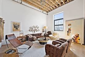 Loft Living Room by 1 8 Million Greenpoint Apartment Is Loft Living At Its Finest 6sqft