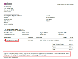 how to link terms and conditions to a quotation u2014 odoo business