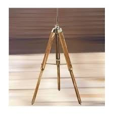vintage wooden lamp stand shade floor tripod adjustable teak