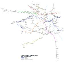 Metro Green Line Map by File Delhi Metro Phase 3 Route Map Svg Wikimedia Commons