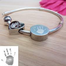 Engraved Charms Charm Bead Handprint Or Footprint
