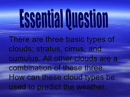 3 kinds of clouds cloud types presentation