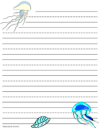 jellyfish writing paper stationery free printable kids letterhead