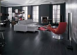 black wooden flooring with black wall paint flooring ideas