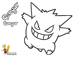 smooth pokemon coloring book pages gastly seadra pokemon