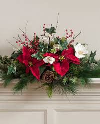 festive christmas u0026 holiday silk floral centerpieces at