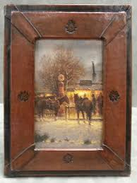 leather picture frames chuckwagon leather frame by mercier gallery