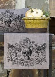 halloween lace tablecloth gothic skull runner heritage lace