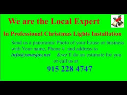 christmas lights installation installer el paso 1 xmas youtube