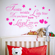 Wall Decals For Girl Nursery by Twinkle Little Star Wall Decal