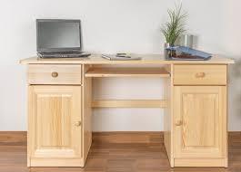 Schreibtisch 1 Meter Breit Kiefer Massiv Vollholz Natur 004 Abmessung 74 X 145 X 55 Cm H X B X
