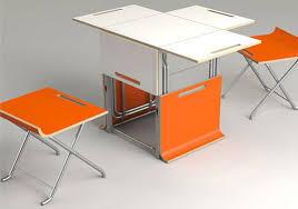 Folding Table With Chair Storage Offi S Paket Storage Cube Transforms Into A Table And Chairs