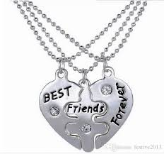 best diamond necklace images Wholesale 2016 the new 3 disc bff heart shaped diamond necklace jpg