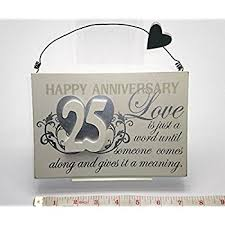25th wedding anniversary gift happy 25th anniversary personalised silver wedding anniversary