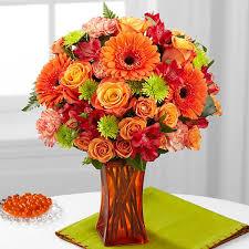 Vase To Vase Florist The Ftd Orange Escape Bouquet Vase Included
