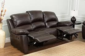 abbyson living bradford faux leather reclining sofa dark brown amazon com abbyson westwood top grain leather sofa home kitchen