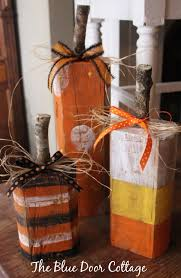 Wood Halloween Crafts New From The Blue Door Cottage This Cute Set Of Rustic Wood