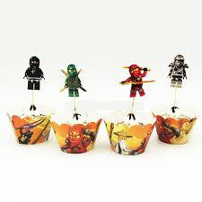 ninjago cake toppers ninjago cupcake toppers wrappers ninjago party supplies this