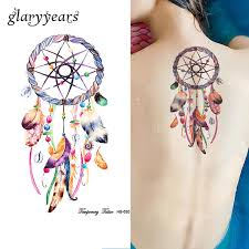 1 sheet dreamcatcher tattoo feather decal hb630 dream catcher