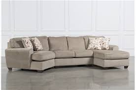 3 Piece Sectional Sofa With Chaise by Patola Park 3 Piece Sectional W 2 Corner Chaises Living Spaces