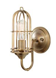 Murray Feiss Wall Sconce Wb1703dab 1 Light Renewal Antique Brass