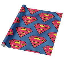 superman wrapping paper dc comics superman classic logo wrapping paper zazzle