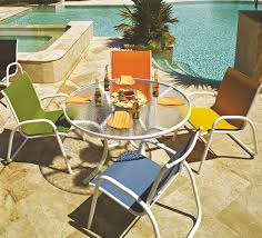 42 Patio Table Pool Furniture Supply Patio Set Fabric Sling Glass Table 42 Inch