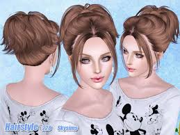 the sims 4 cc hair ponytail small ponytail hairstyle 228 by skysims sims 3 hairs