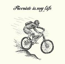 fast moving extreme cyclist vector art thinkstock
