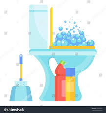 Home Clean White Home Clean Hygienic Toilet Bowl Stock Vector 670372837