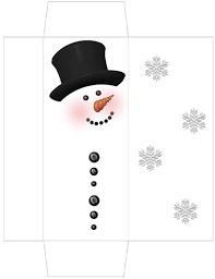 free snowman candy wrapper templates snowman candy bar box