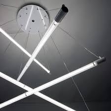 lighting ideas hanging fluorescent tube lights for interior