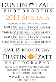 photo booth prices january 2013 photo booth specials dustin izatt photo booths