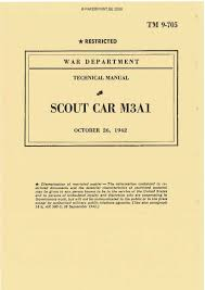 tm 9 705 us scout car m3a1 paperprint wwii military vehicle manuals