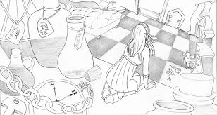 drawing alice wonderland dreamwalker37 deviantart