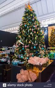 Christmas Tree Ornament Display Paris France Christmas Trees On Display Shopping For