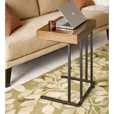 winston side sofa table w mini pull out drawer