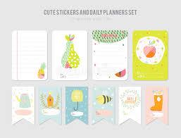 cute daily calendar template stock vector image 76601416