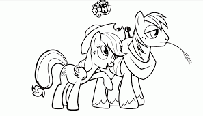 my little pony coloring pages applejack kids coloring
