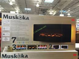 Costco Electric Fireplace Costco 1049041 Muskoka 42 Curved Wall Mount Electric Fireplace Box