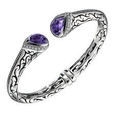 kay jewelers catalog scott kay amethyst engraved sterling silver open cuff bracelet